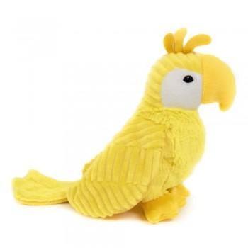Peluche ptipotos loro Déglingos color amarillo