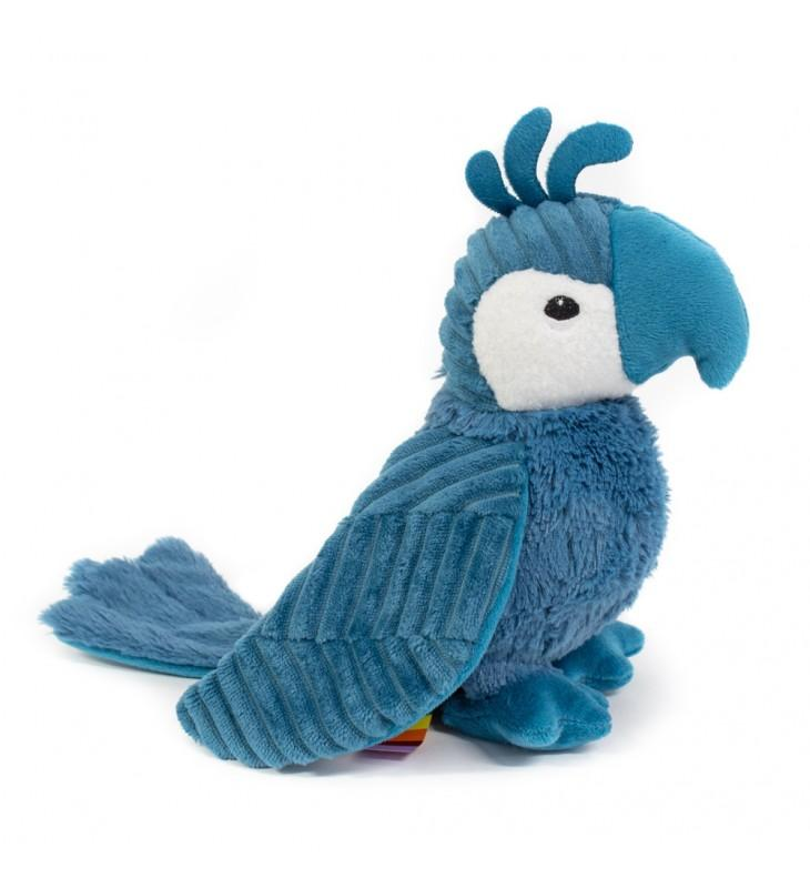Peluche ptipotos loro Déglingos color azul