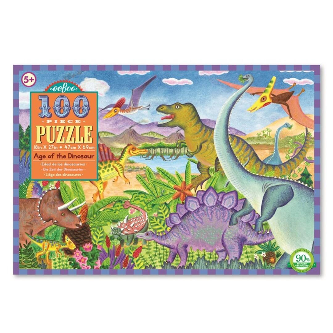 Puzzle 100 piezas era de dinosaurio