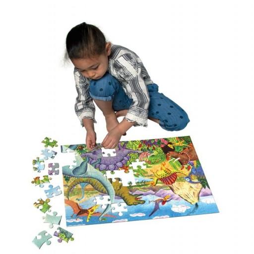 Puzzle 100 piezas era de dinosaurio [1]