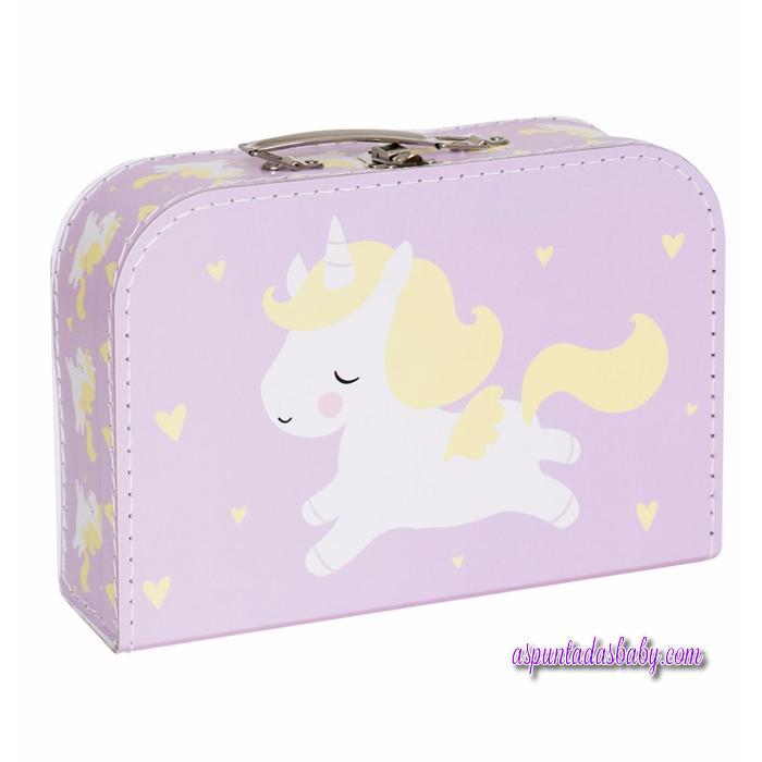 Maleta Bebé mod. Unicornio color lila