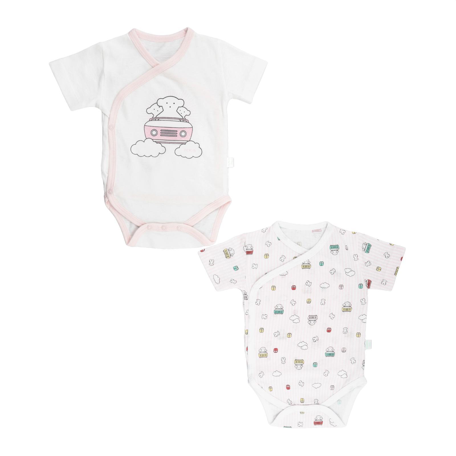 Set Bodys Cruzados Baby Tous Roller Rosa