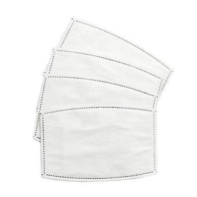 Set 4 filtros extraíbles para mascarilla infantil.