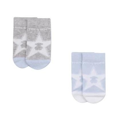 Set calcetines combinados  Baby Tous Sweet Socks Azul Celeste