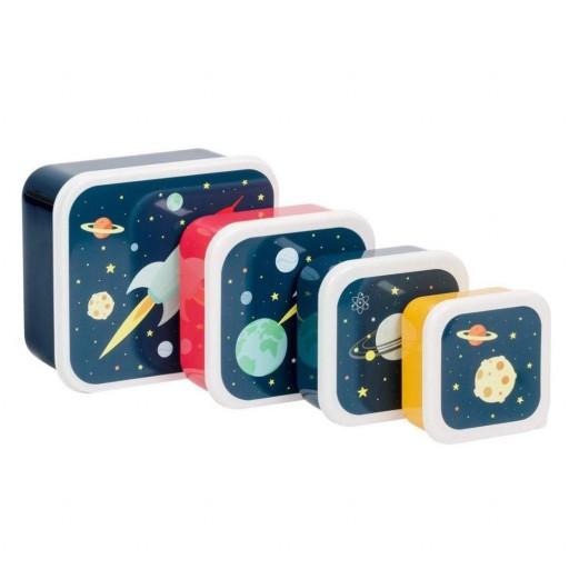Set de 4 Fiambreras Espacio