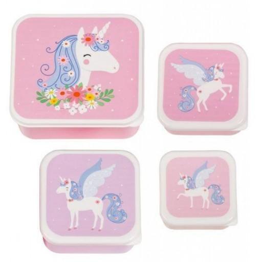 Set de 4 Fiambreras Unicornios Little Lovely