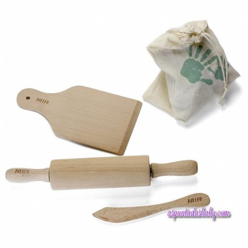 Set herramientas madera para moldear arcilla Ailefo