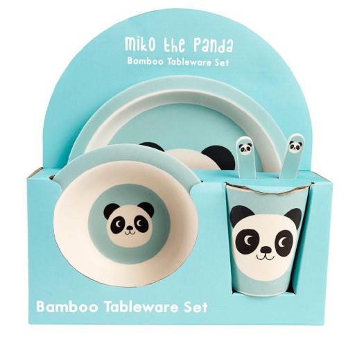 Set Vajilla Bambú Miko El Panda