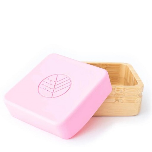 2 Cajitas Eco Rascals para Snack de Bambú Rosa/Gris [1]
