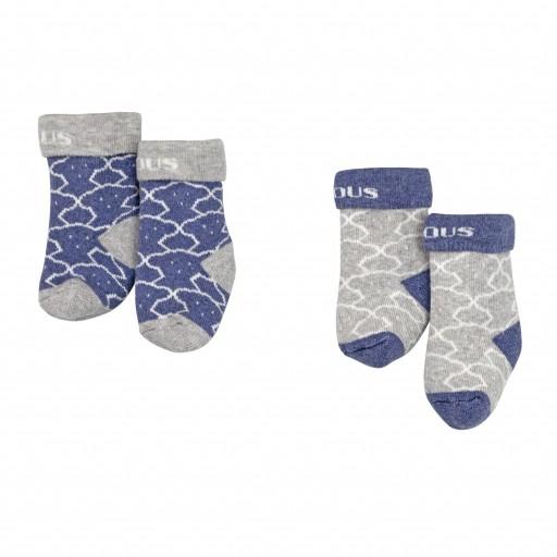 Set de calcetines Baby Tous mod. Sweet Socks 1303 Marino