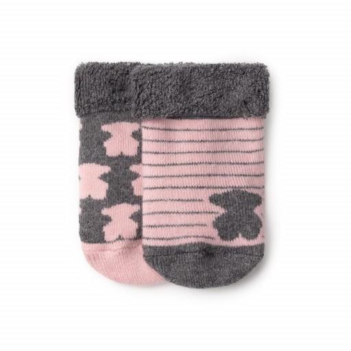 Set Baby TOUS de dos pares de calcetines de algodón color rosa.