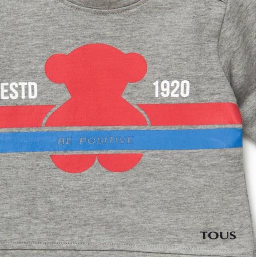 Sudadera Baby Tous Oso Estd 1920 Casual Gris [1]