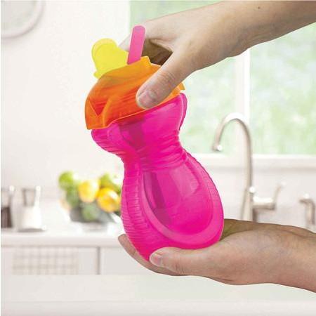 Taza Click Lock™ con pajita abatible (266 ml) color fucsia [1]