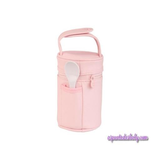 Termo Papillero Tuc Tuc mod. Oso color rosa.