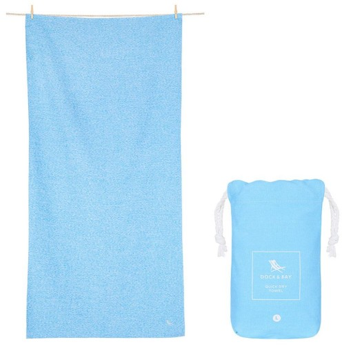 Toalla Playa Microfibra Active Eco Azul Pastel