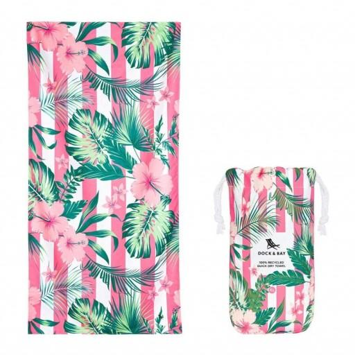 Toalla Playa Microfibra Dock & Bay mod. Botanica Hibiscus Talla L