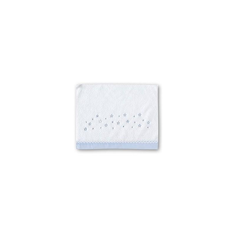 Tríptico microlina cuna Dot Stars blanco-azul 60 x 120 cms.