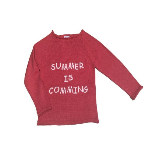 "Jersey Ancar ""Summer is comming"" color fresa."