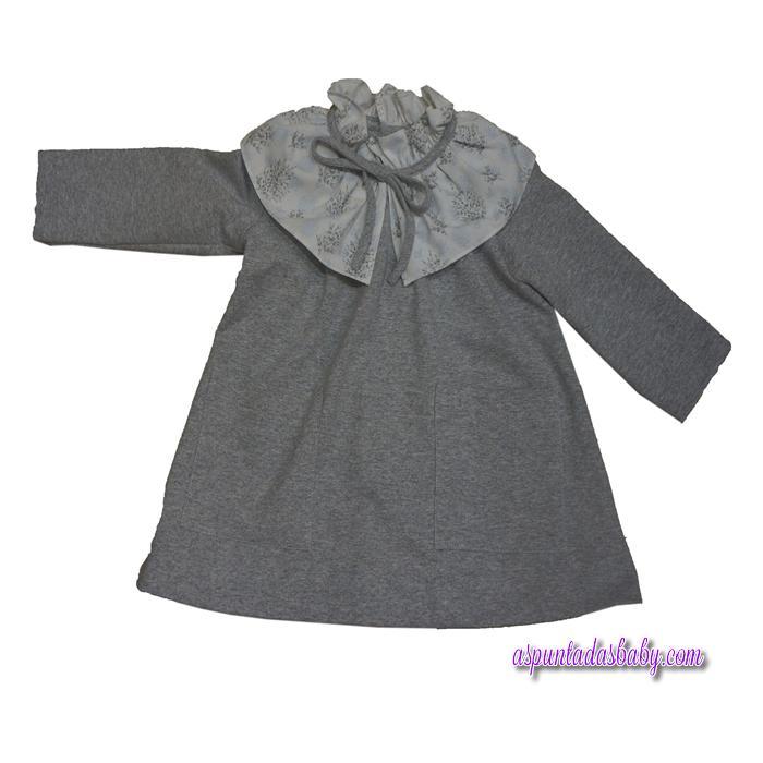 Vestido Ancar felpa color gris.