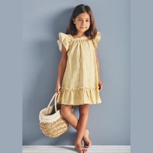 Vestido Babidu colección Emma color amarillo.