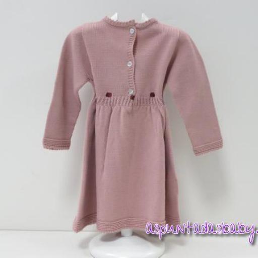 """Vestido """"Ancar"""" punto color rosa empolvado [1]"""