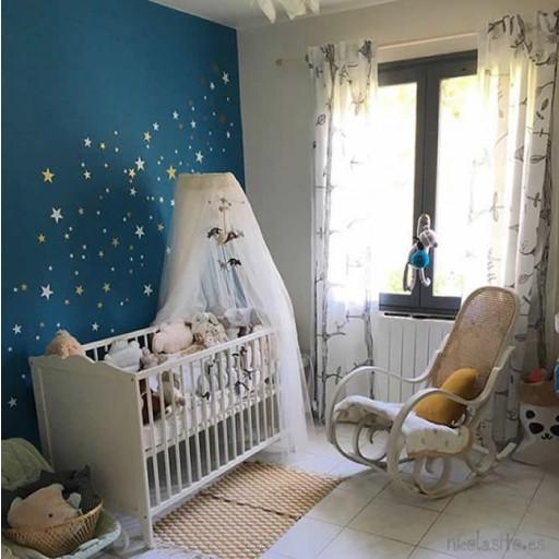 Vinilo Estrellas mix colores: blanco / azul cielo / rosa / gris claro