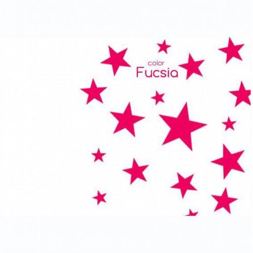 Vinilo Estrellas mix colores:  oro / negro / fuscia / gris oscuro [2]