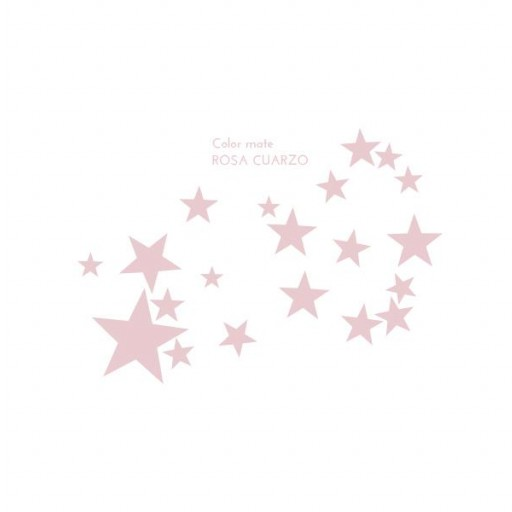 Vinilo Estrellas mix colores: blanco / azul cielo / rosa / gris claro [2]
