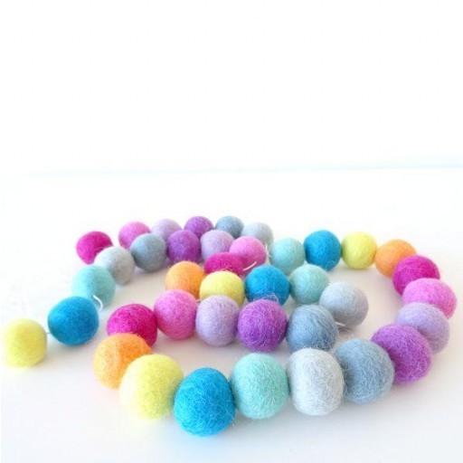 Guirnalda mix colores: magenta/fucsia/violeta/morado/gris oscuro/gris claro/azul/turquesa/amarillo/naranja [3]