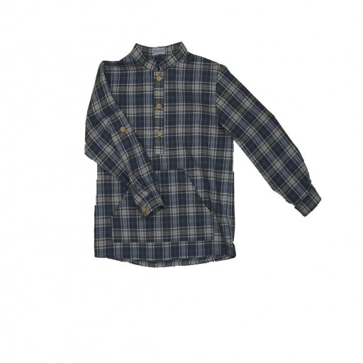 Camisa Ancar canguro cuadros escoceses color marino