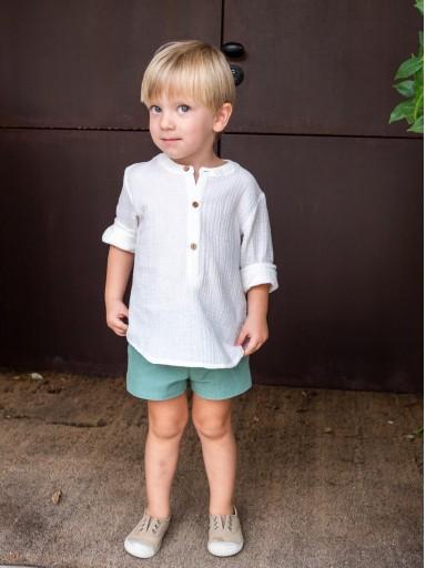 Pantalón Ancar lino color verde. [2]