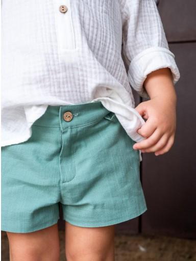 Pantalón Ancar lino color verde. [1]