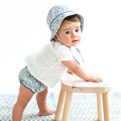 Camisa Ancar cuello bebé color blanco.