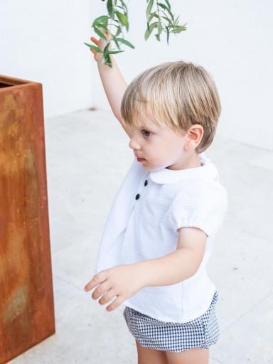 Camisa Ancar blanca cuello bebé. [1]