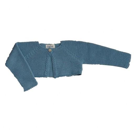 Chaqueta Ancar trenza color azul palo.