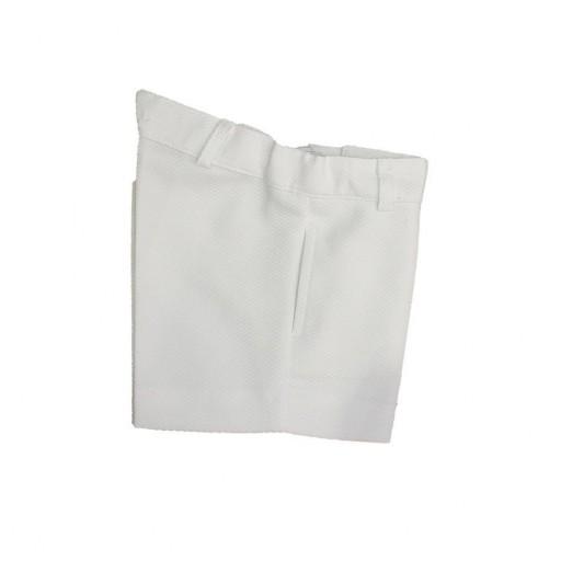 Pantalón Ancar pique blanco.