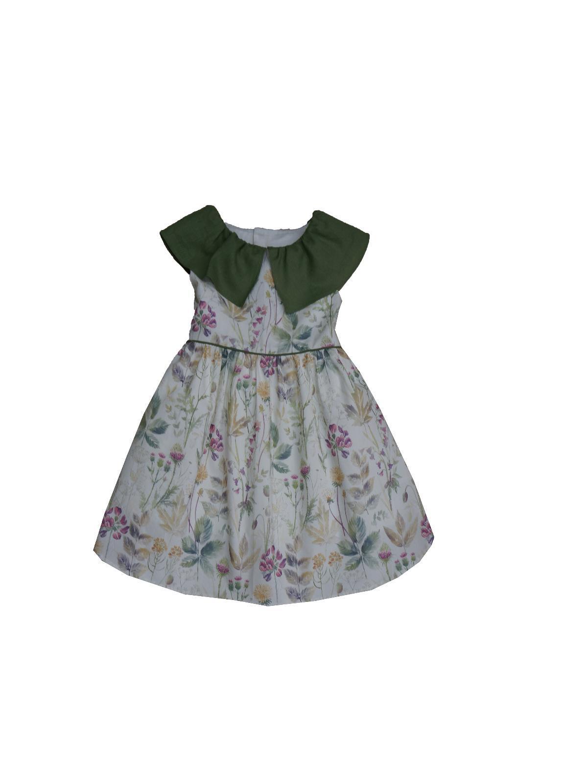 Vestido Ancar flores moradas.