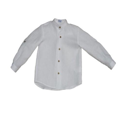 Camisa Ancar lino color beige.