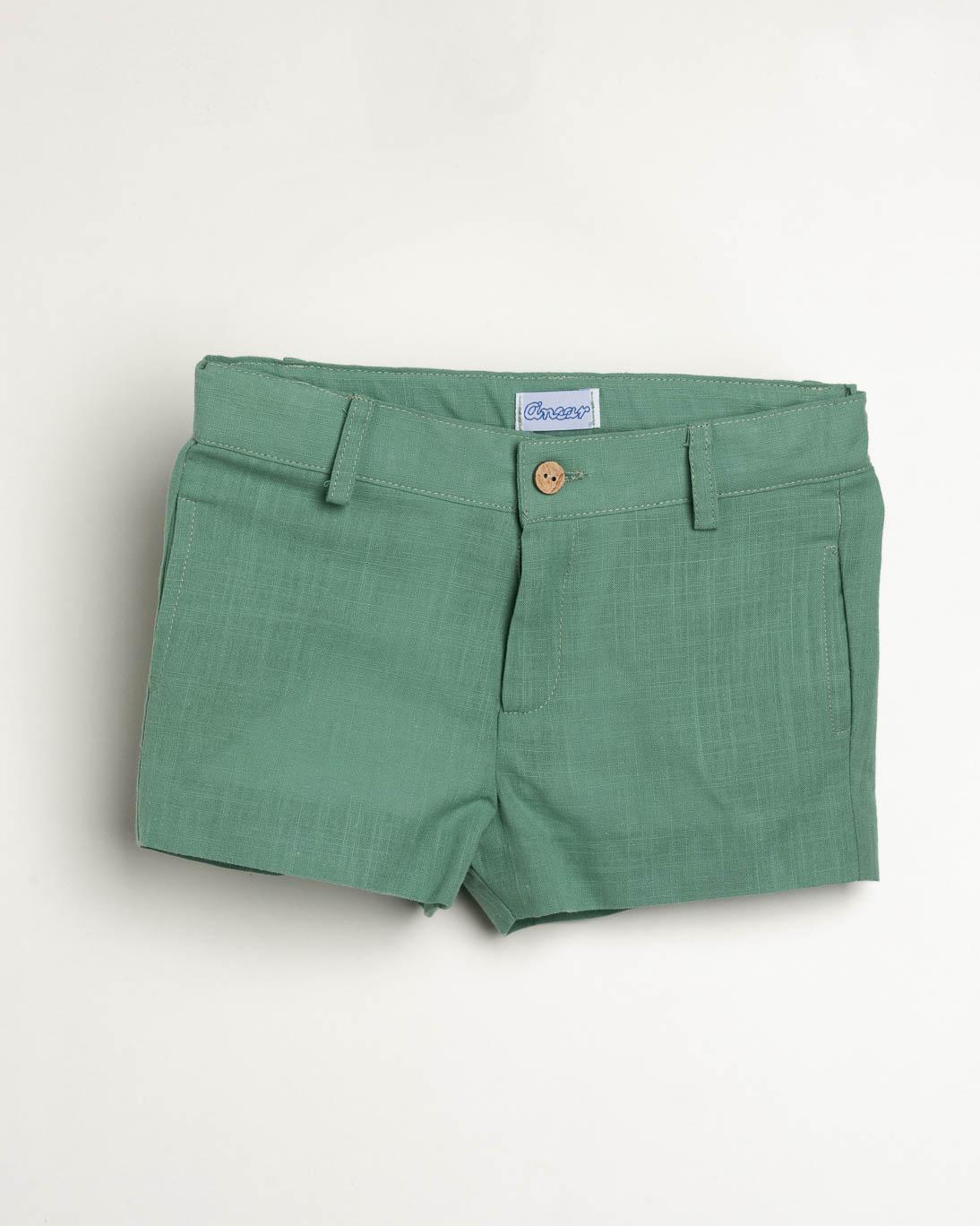 Pantalón Ancar lino color verde.