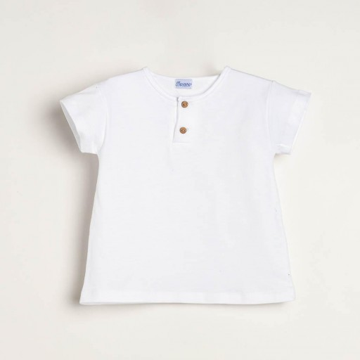Camiseta Ancar niño color blanco.