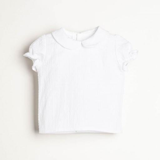 Camisa Ancar cuello bebé color blanco. [1]