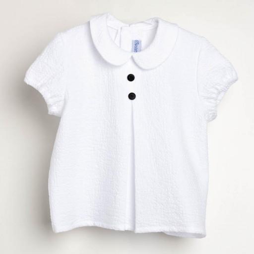 Camisa Ancar blanca cuello bebé.