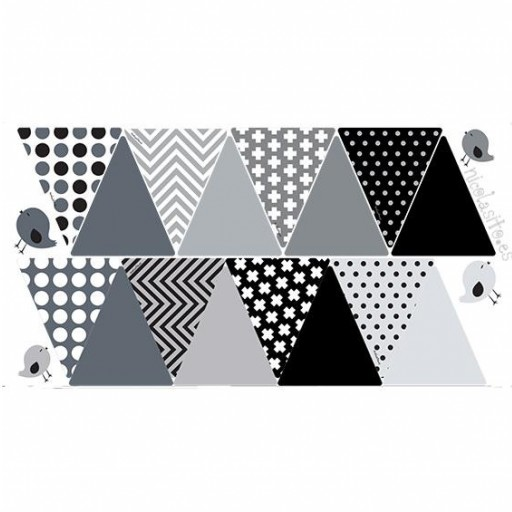 Vinilo banderines color negro [2]