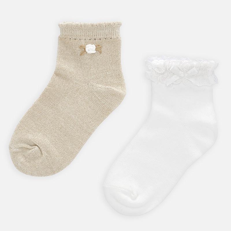 Set calcetines aplique niña