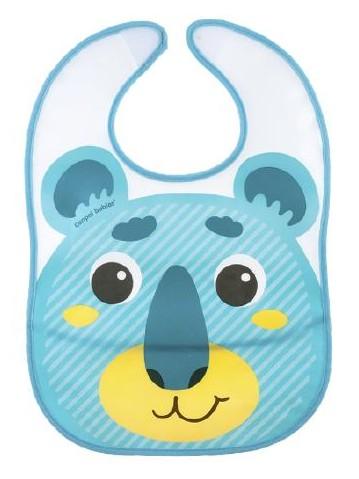 Babero bebé con bolsillo Hello Little azul