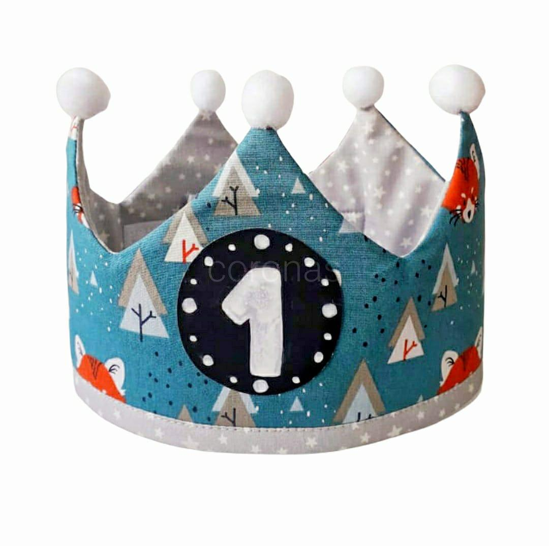 Corona de cumpleaños BLUE FOX