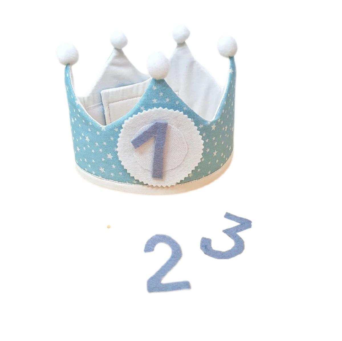 Corona de cumpleaños STARS AZUL
