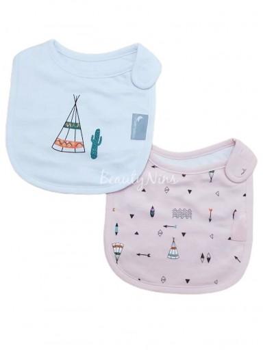 Pack 2 baberos bebé TIPPY ROSA