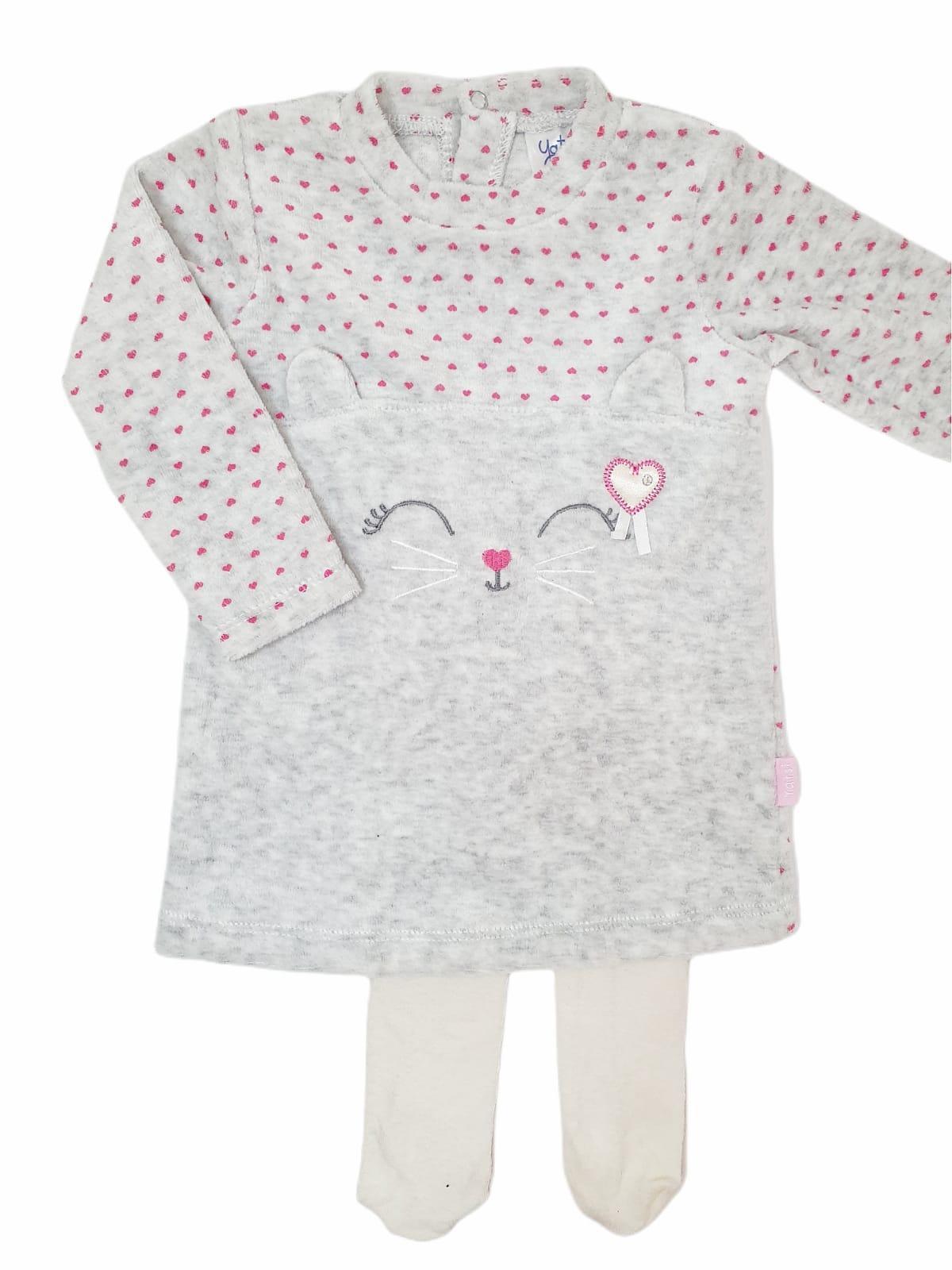 Vestido bebé KITTEN gris