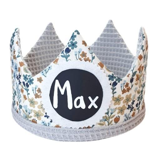 Corona de cumpleaños BLUE FLOWERS